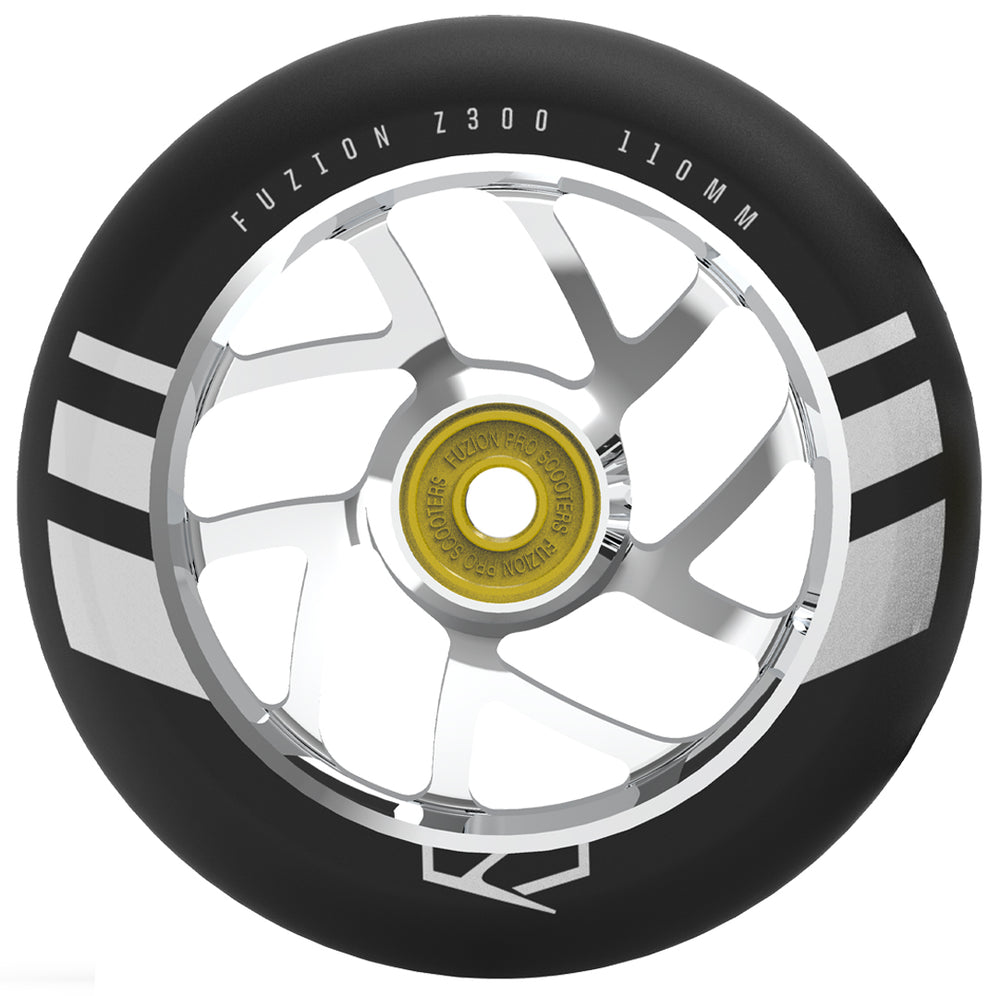 Fuzion 110mm Flight Wheel Black/Silver