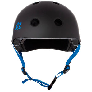 Load image into Gallery viewer, S1 Lifer Helmet Black Cyan Straps