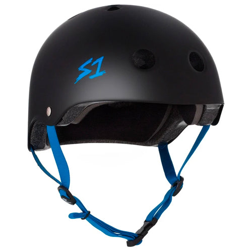 S1 Lifer Helmet Black Cyan Straps