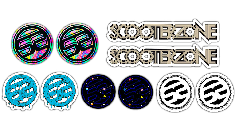 Scooter Zone Sticker Pack