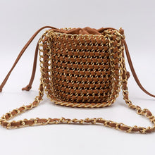 Load image into Gallery viewer, NEW Designer 2019 Summer Women's Bucket Straw Bag Woven Handbags Ladies Straw Beach Bag Female Crossbody Messenger Bag