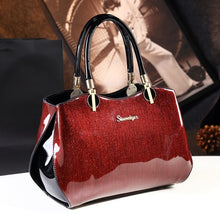 Load image into Gallery viewer, New arrival korean style simple pillow shoulder bags handbags women famous brands top handle bag patent leather messenger clutch