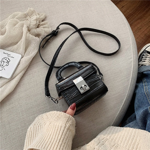 Stone pattern Mini Tote bag 2020 Fashion New High quality PU Leather Women's Designer Handbag Portable Shoulder Messenger Bag