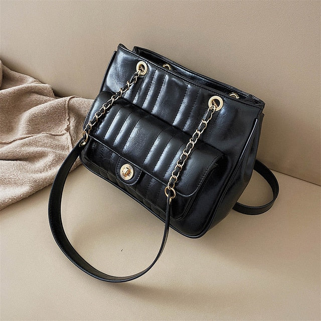 Casual Large Tote bag 2020 Fashion New Quality PU Leather Women's Designer Handbag High capacity Chain Shoulder Messenger Bag