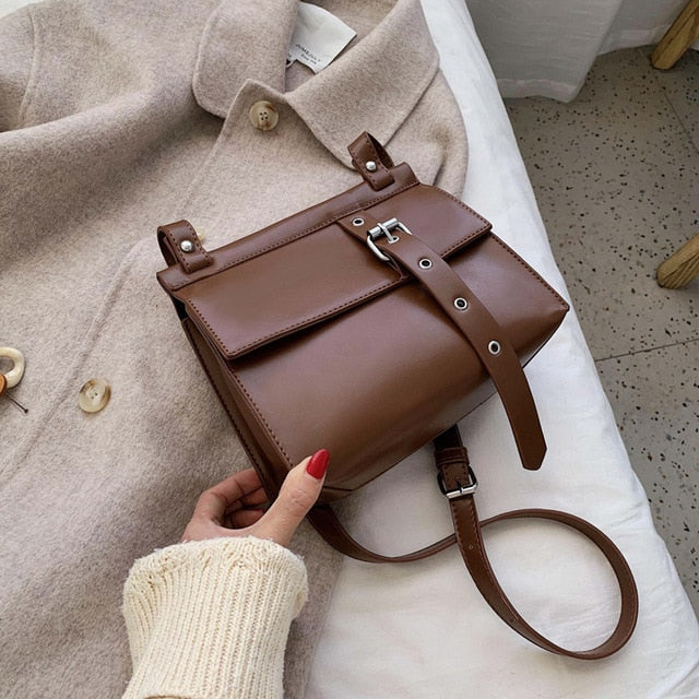 Vintage Square Crossbody bag 2020 Fashion New High quality PU Leather Women's Designer Handbag Lock Shoulder Messenger Bag