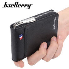 Load image into Gallery viewer, fashion zipper Men's Wallet  small short Credit Card Holder for male vintage mini man purse with coin pocket 058-K9105