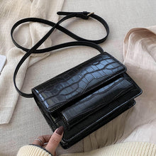 Load image into Gallery viewer, Vintage Square Crossbody Bag 2020 Fashion New Quality PU Leather Women's Designer Handbag Stone pattern Shoulder Messenger Bag