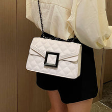 Load image into Gallery viewer, Lattice Square Crossbody Bag 2020 Fashion New High quality PU Leather Women's Designer Handbag Lock Chain Shoulder Messenger Bag