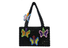 Load image into Gallery viewer, Popular Bead Bag Rainbow Hand-woven Pearl Celebrity Handbag Unique Design Colourful Ladies Party Bag Totes Acrylic Evening Party