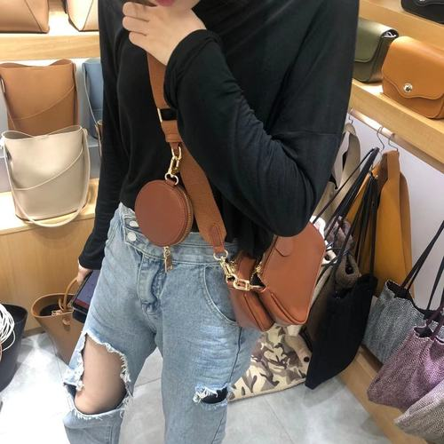 Fashion Solid Color PU Leather Shoulder Messenger Bag Casual Crossbody Bags Women Handbags Totes Bag 3 Sets Evening Clutch Purse