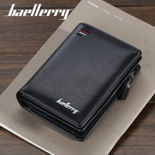 Load image into Gallery viewer, Baellerry short Men wallets fashion new card purse Multifunction organ leather wallet for male zipper wallet with coin pocket