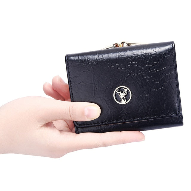 Short Women's Wallet for Woman Small Wallets Leather Coin Purse Ladies Fashion Hasp Female Wallet Mini for Student Card Holders