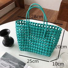 Load image into Gallery viewer, Summer Bag Women New Hand Woven Messenger Bag Hand-held Single Shoulder Bag Hollow Vegetable Basket Casual Travel Beach Bag