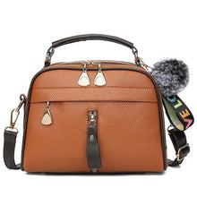 Load image into Gallery viewer, PU Leather Handbag For Women Girl Fashion Tassel Messenger Bags With Ball Bolsa Female Shoulder Bags Ladies Party Crossby Bag