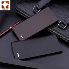 Load image into Gallery viewer, men's wallet microfiber leather long purse carteira masculina hombre billeteras thin porte 2020 men wallets of leather genuine