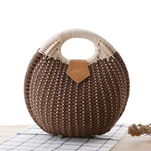 Load image into Gallery viewer, Alasir New Fashion Holiday Shell Handbags Personality Cute Rattan Bag Small Straw Bag Woven Female Bags Casual Beach Bag