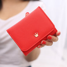 Load image into Gallery viewer, Women's Wallet Short Women Coin Purse Crown Wallets For Woman Card Holder Small Ladies Wallet Female Hasp Mini Clutch For Girl