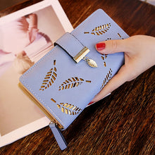 Load image into Gallery viewer, 2020 Women Wallet Purse Female Long Wallet Gold Hollow Leaves Pouch Handbag For Women Coin Purse Card Holders  Femme