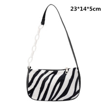 Load image into Gallery viewer, Elegant Women PU Leather Hobo Shoulder Bags Casual Zipper Armpit Sling Handbags Youth Ladies Small Square Bag