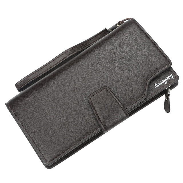 Men Long Wallet Luxury Credit Card Holder Purses Carteira Masculina Carteras Billetera Hombre Leather Money Portfe Carte Clutch