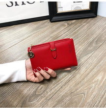 Load image into Gallery viewer, 2020 New Fashion Women Wallet Letter Print PU Leather Wallet Short Change Purse Handbag Card Holders