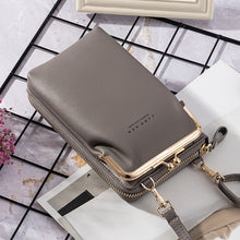 Load image into Gallery viewer, Women's  Wallet New Double-Layer Mobile Phone Bag Korean Ladies Fashion Messenger Shoulder Bag Ultra Soft Multi Card Sto