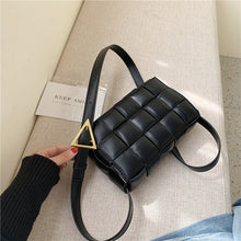 Load image into Gallery viewer, 2020 Solid Color Fashion Shoulder Handbags Female Travel Cross Body Bag Weave Small PU Leather Crossbody Bags For Women