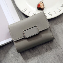 Load image into Gallery viewer, New Money Small Wallet Women Casual Solid Wallet Fashion Female Short Mini All-match Korean Students Small Wallet Simple Square