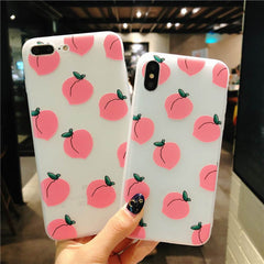 Peach Pattern Soft Case