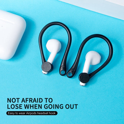 2Pcs Mini Anti-fall Bluetooth Headset Earhooks Earphone Holder For Airpods 1/2 Earbuds Ear Hook Cap For Apple Air Pods 2 1