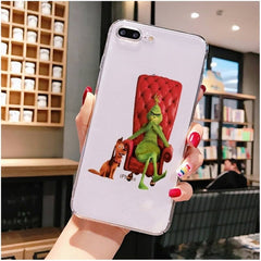 How the Green ofMonster Grinch Stole Christmas Phone Case For iPhone X XS MAX 6 6s 7 7plus 8 8Plus 5 5S SE 2020 XR 11 11pro max