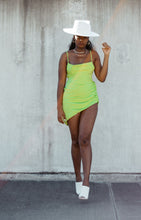 Load image into Gallery viewer, Party in Paradise Ruched Mini Dress