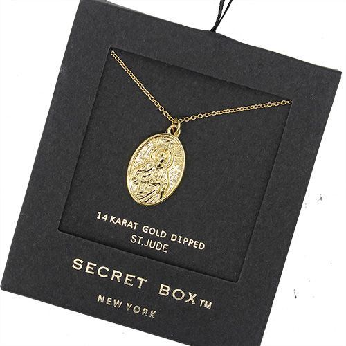 Secret Box S.J. Gold Pendant Necklace