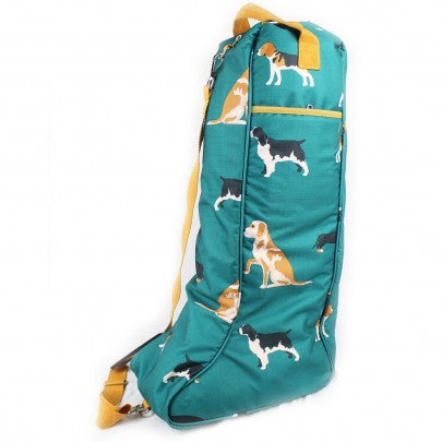 Dogs Print Long Boot Bag