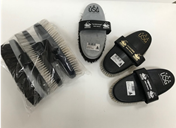 Haas Brush Set Grey/White/coloured Horse