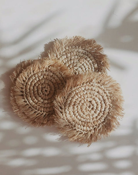 Raffia Coasters (Set of 4)