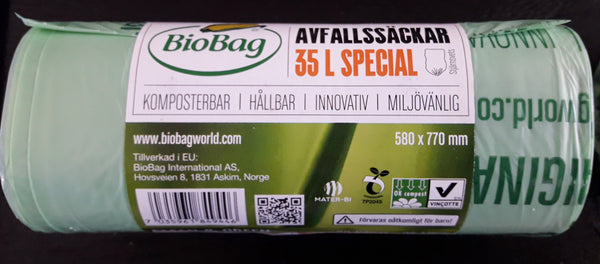Cornstarch Biobags-compostable
