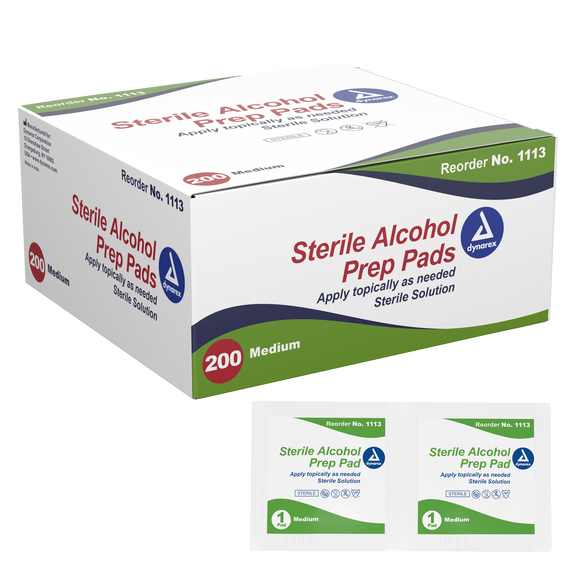 Alcohol Prep Pad Sterile, Medium