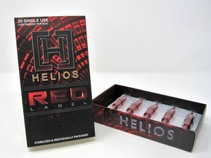Helios Red Label Cartridges - Extra Tight Round Liners