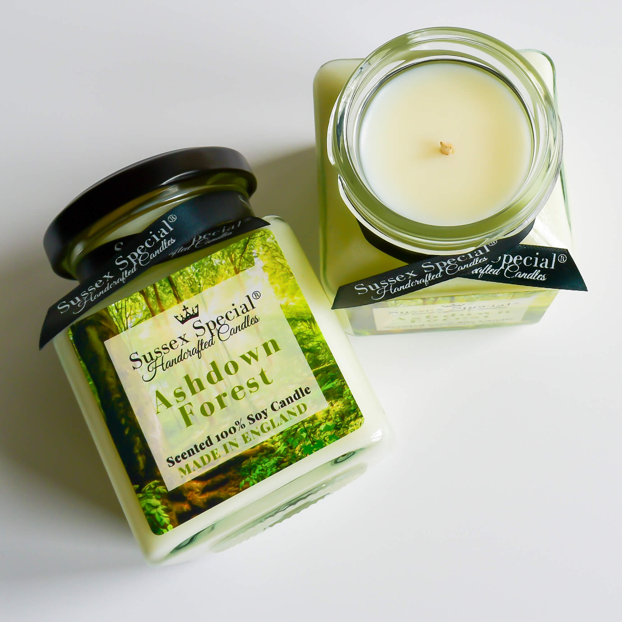 Sussex Special Ashdown Forest Luxury Scented Natural Soy Candle Peppermint, Spearmint, White Tea
