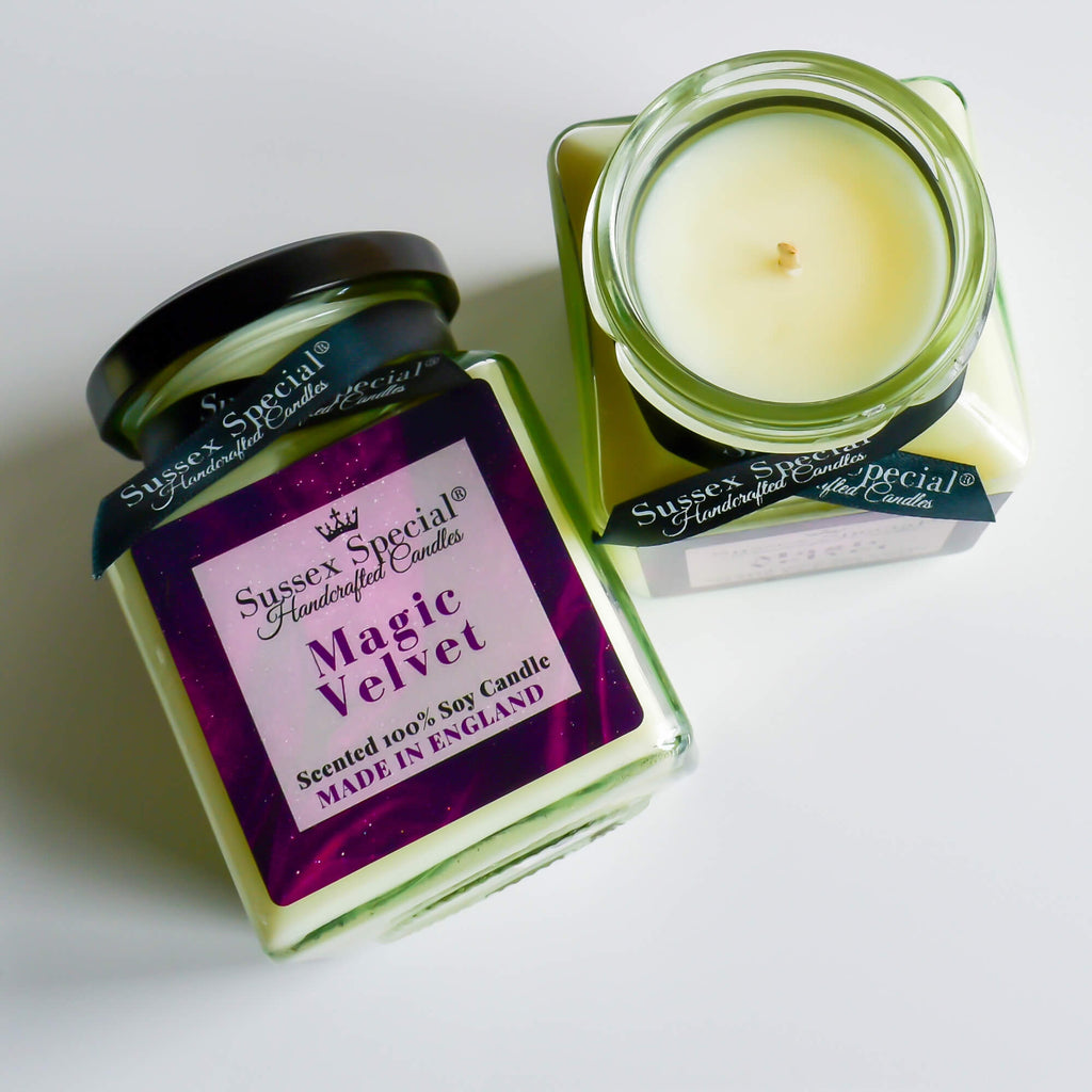 Sussex Special Magic Velvet Luxury Fruit Natural Scented Soy Wax Candle Cassis, Raspberry, Strawberry, Blueberry, Apple, Cherry, Cinnamon, Sugar
