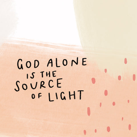 God alone is the source of light beautiful sermon design