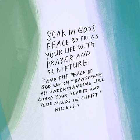 Soak in God's Peace  - Encouraging short sermons and devotionals compiled by The Commandment Co