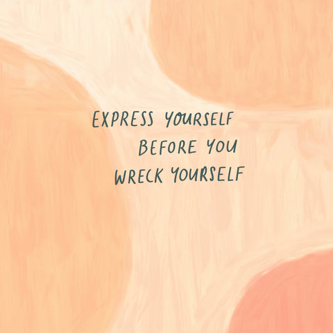 Express yourself before you wreck yourself - Encouraging short sermons and devotionals compiled by The Commandment Co