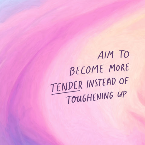 aim to become more tender instead of toughening up - Encouraging short sermons and devotionals compiled by The Commandment Co