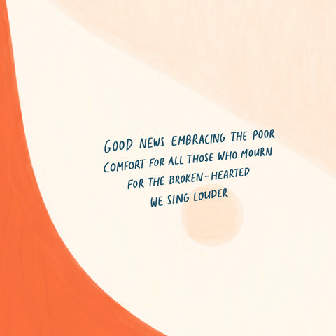 Good news embracing the poor Comfort for all those who mourn For the broken-hearted We sing louder - Encouraging short sermons and devotionals compiled by The Commandment Co