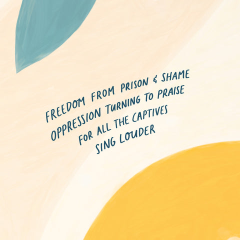 Freedom from prison and shame Oppression turning to praise For all the captives Sing louder - Encouraging short sermons and devotionals compiled by The Commandment Co