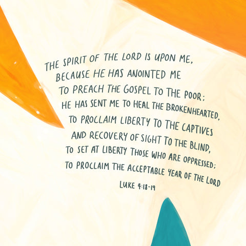 """""""The Spirit of the Lord is upon Me, Because He has anointed Me To preach the gospel to the poor; He has sent Me to heal the brokenhearted, To proclaim liberty to the captives And recovery of sight to the blind, To set at liberty those who are oppressed; To proclaim the acceptable year of the Lord."""" Luke 4:18-19 - Encouraging short sermons and devotionals compiled by The Commandment Co"""