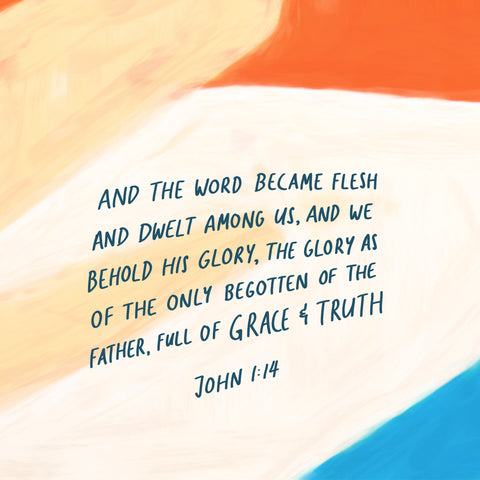 And the Word became flesh and dwelt among us, and we beheld His glory, the glory as of the only begotten of the Father, full of grace and truth. John 1:14  - Encouraging short sermons and devotionals compiled by The Commandment Co