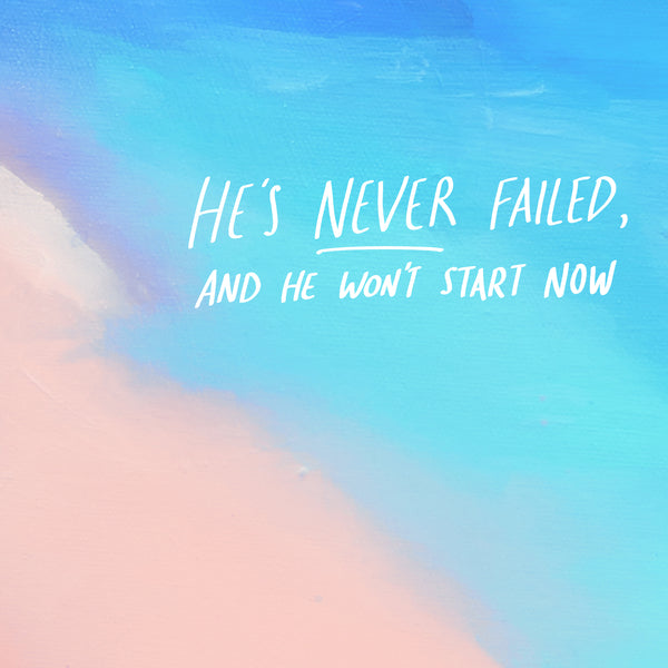 God has never failed and He will not fail now.